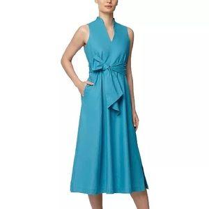Anne Klein Tie-Waist Midi Dress - Size XXS (NWT)
